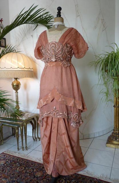 "Elegant Evening Gown, ca. 1912 Label: ""Rybicka-Meyer ..."