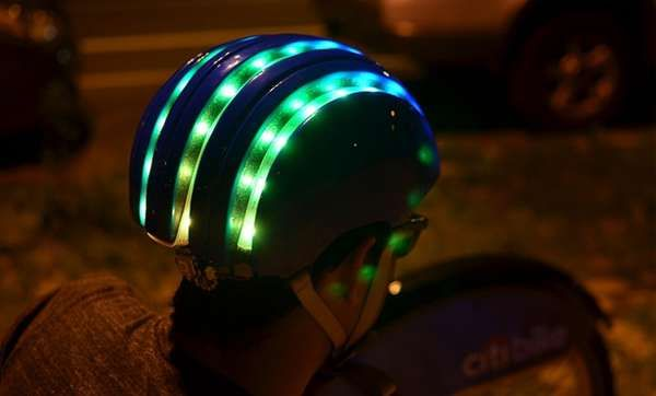 Led lit head protectors bike helmets and helmets the citi bike helmet boast illuminated strips for added safety trendhunter aloadofball Image collections