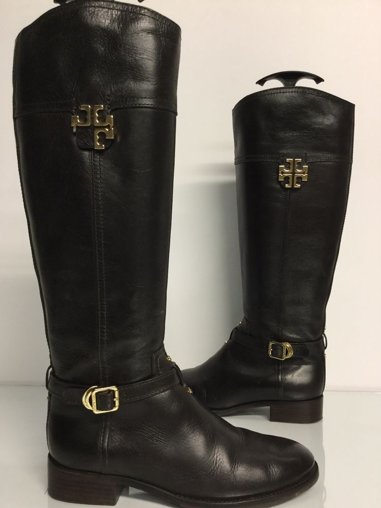 5c882a96014e Tory Burch Eloise brown leather tall Knee high riding boots Sz. 7.5 M   fashion  clothing  shoes  accessories  womensshoes  boots (ebay link)