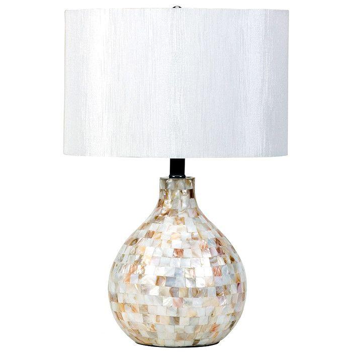 Capiz shell table lamp intriguingeriors pinterest lmparas capiz shell table lamp aloadofball Images