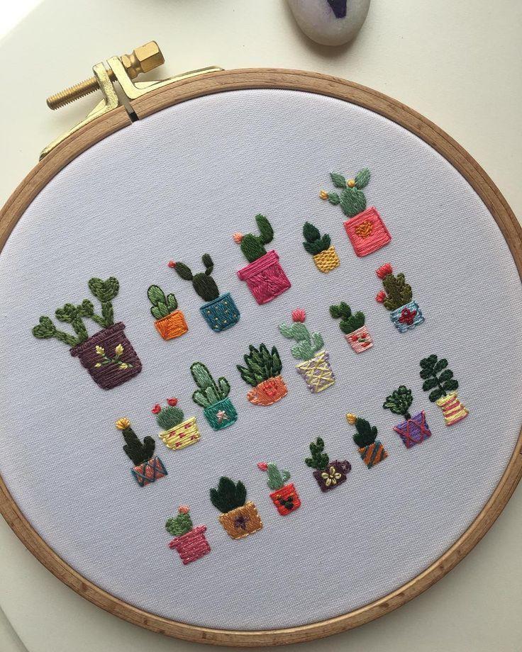 Photo of Kaktus 💚. . . #stickerei #bestickt #stickrahmen #stickrahmen #em …