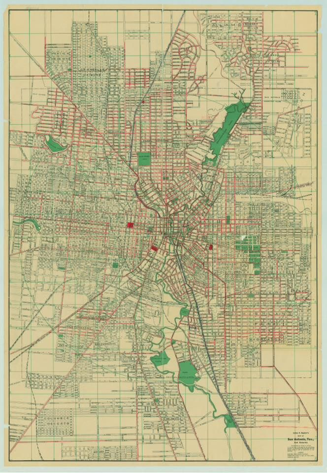 Here is a street map of San Antonio from 1929. A few of the original ...