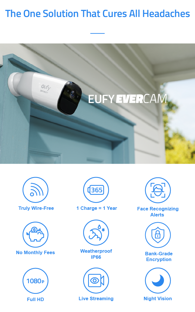 eufy EverCam: The Wirefree Security Cam with 365-Day Battery by Eufy ...
