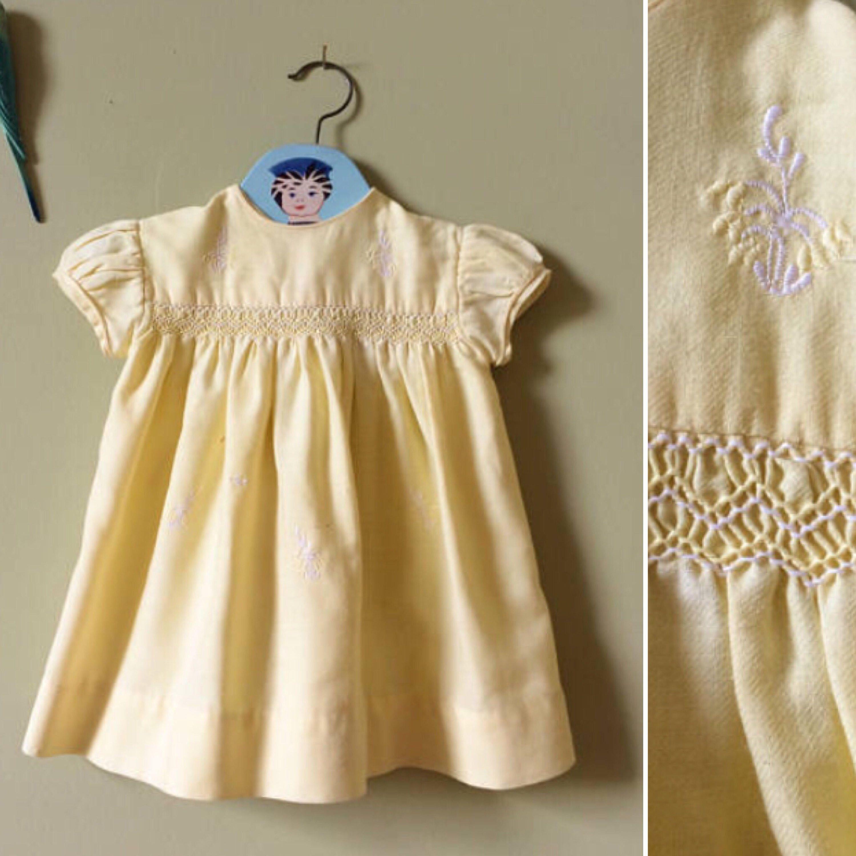 Vintage Baby Dress Vintage Girls Dress 1950s 1960s Yellow Etsy Vintage Baby Dresses Vintage Girls Dresses Girls Dresses [ 3000 x 3000 Pixel ]