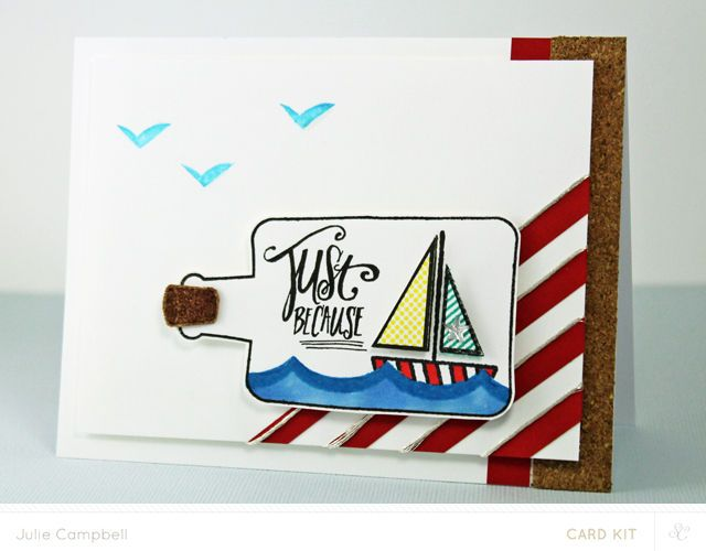 Message In a Bottle Card by Julie Campbell at @Studio_Calico