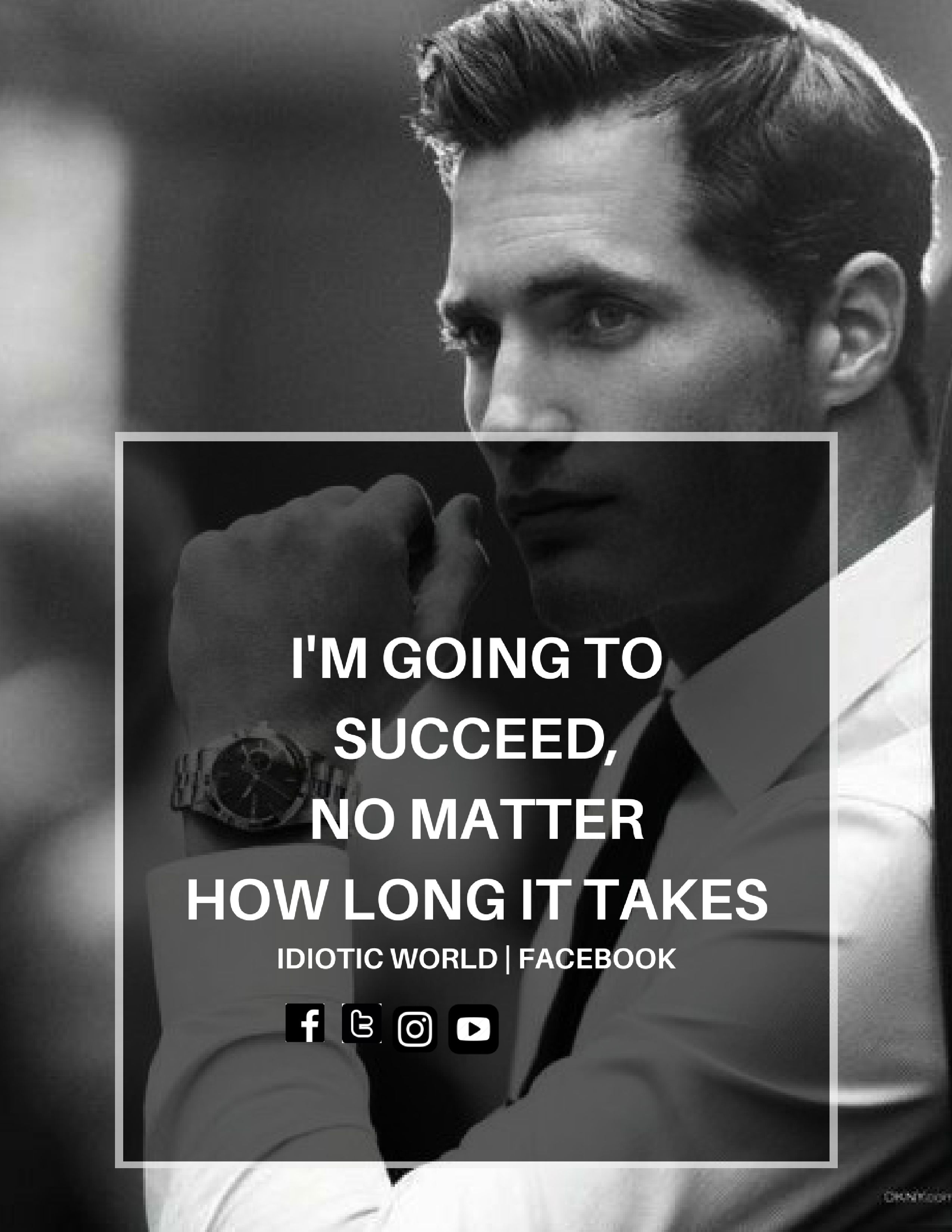 Secceed matter how long takes.  Image quotes, Attitude quotes for