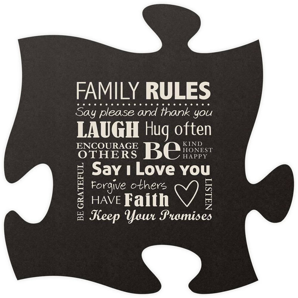 Family Rule Quote Puzzle Piece Family quotes, Rules