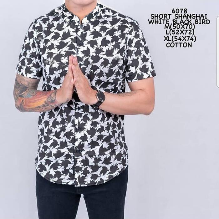 Model Kemeja Pria Lengan Pendek Motif Bunga Desain Terbaru 2018
