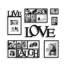 I Have The Live Laugh Love Now I Just Need The Frames In Black And The Wall I Want To Do It On Picture Frame Wall Frames On Wall Picture Wall