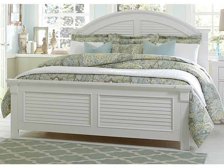 Queen Panel Bed Liberty Furniture Coastal Bedrooms Cream