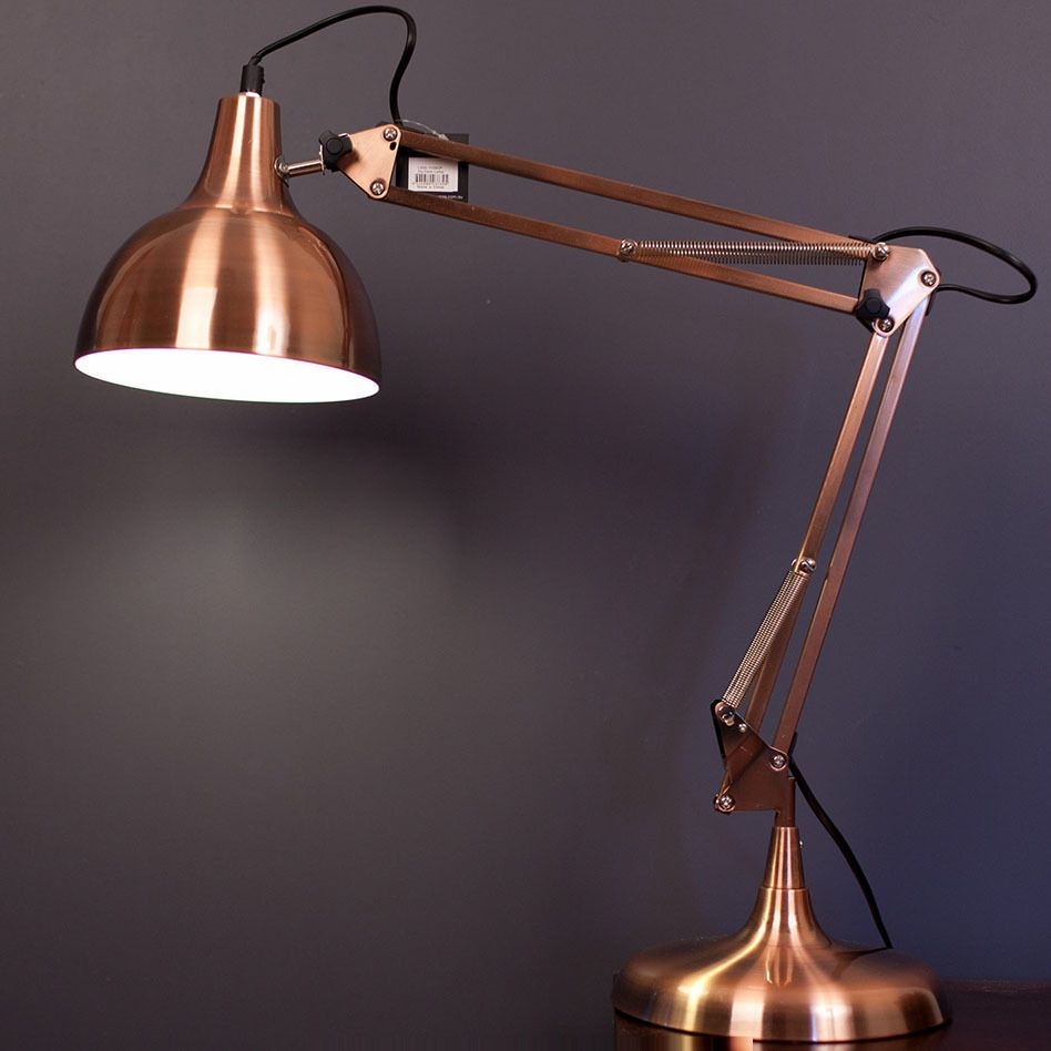 Mini sly table lamp copper desk lamp modern for Amalfi sly floor lamp copper