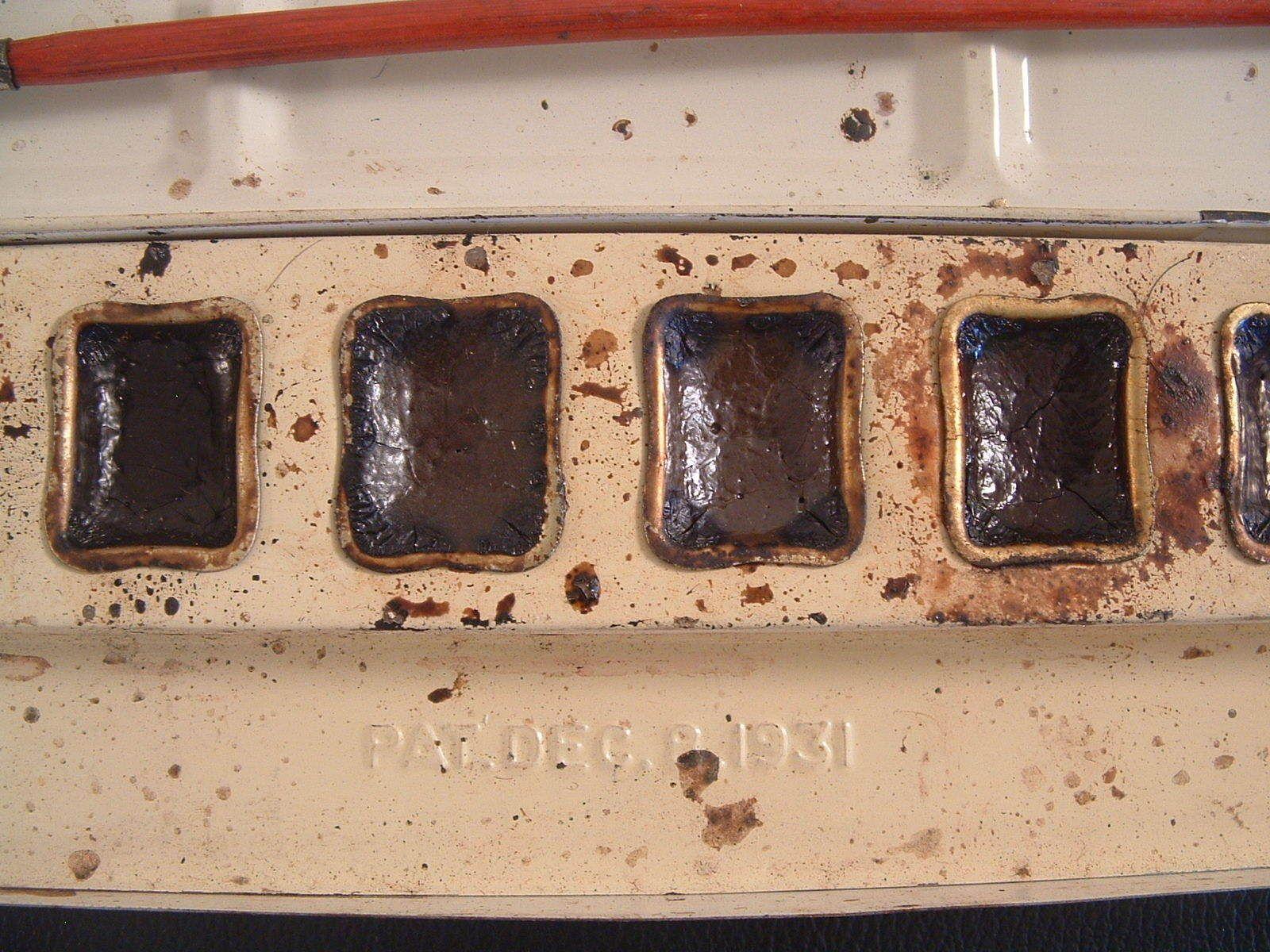 Vtg Lindseys Quality Water Colors Paint Box Tin Brushes Pat Dec 8 1931 Graphics | eBay