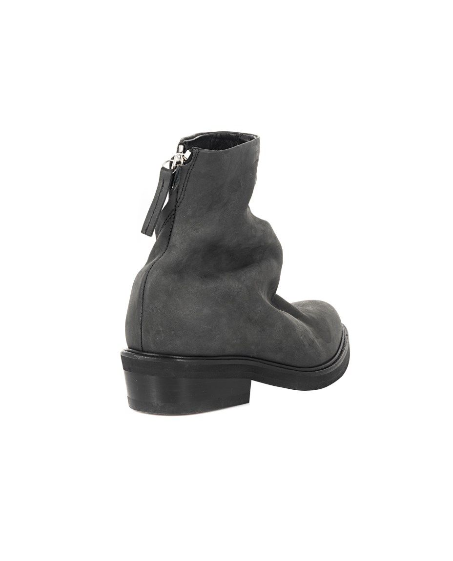 fd1a89ff740 Grey ankle boots soft leather narrow toe leather sole leather lining side  zipper closure Heel  2 cm