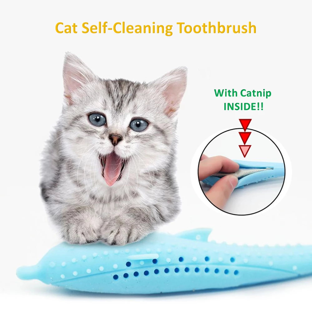 Cat SelfCleaning Toothbrush With Catnip INSIDE Clean