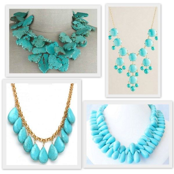 Make a statement: Big and bold turquoise necklaces