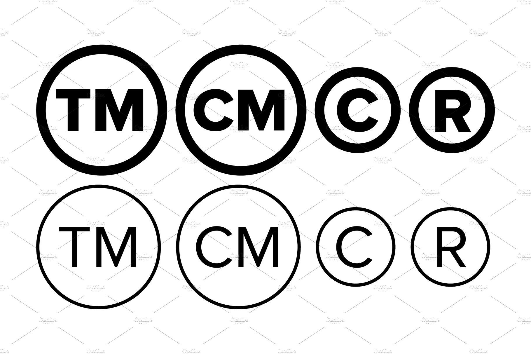 Copyright And Registered Trademark Trademark, Registered
