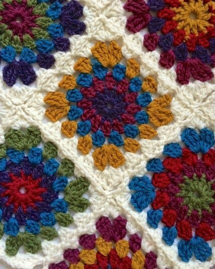 Crochet For Children Circle Centred Crochet Granny Square Free