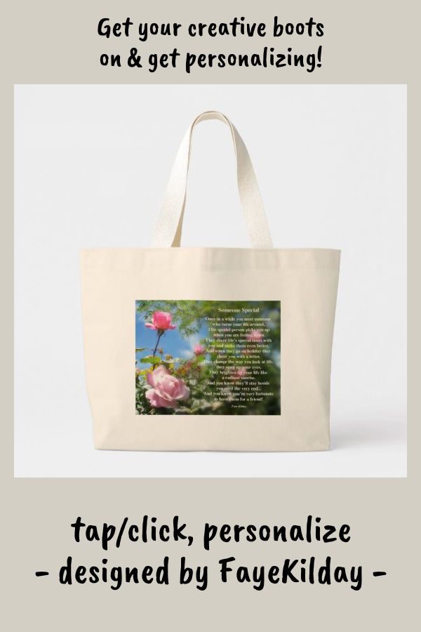 Someone Special Friendship Poem Large Tote Bag #friendship #poem #special #friend #LargeToteBag