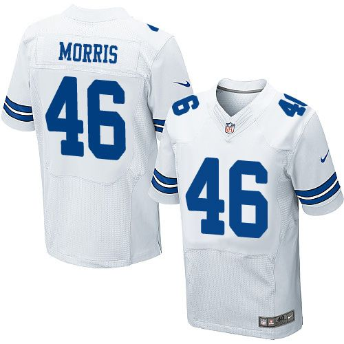 995677c7f3b Men's Nike Dallas Cowboys #46 Alfred Morris Elite White NFL Jersey ...