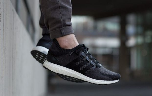 official photos 10f77 92ff0 EQT support ultra boost primeknit core black | kicks ...