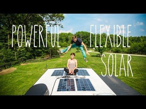 Powerful And Flexible Rv Solar Panels Carvan Pinterest