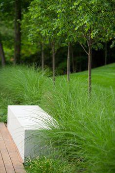 Stone Seat Modern Landscaping Modern Garden Outdoor Gardens