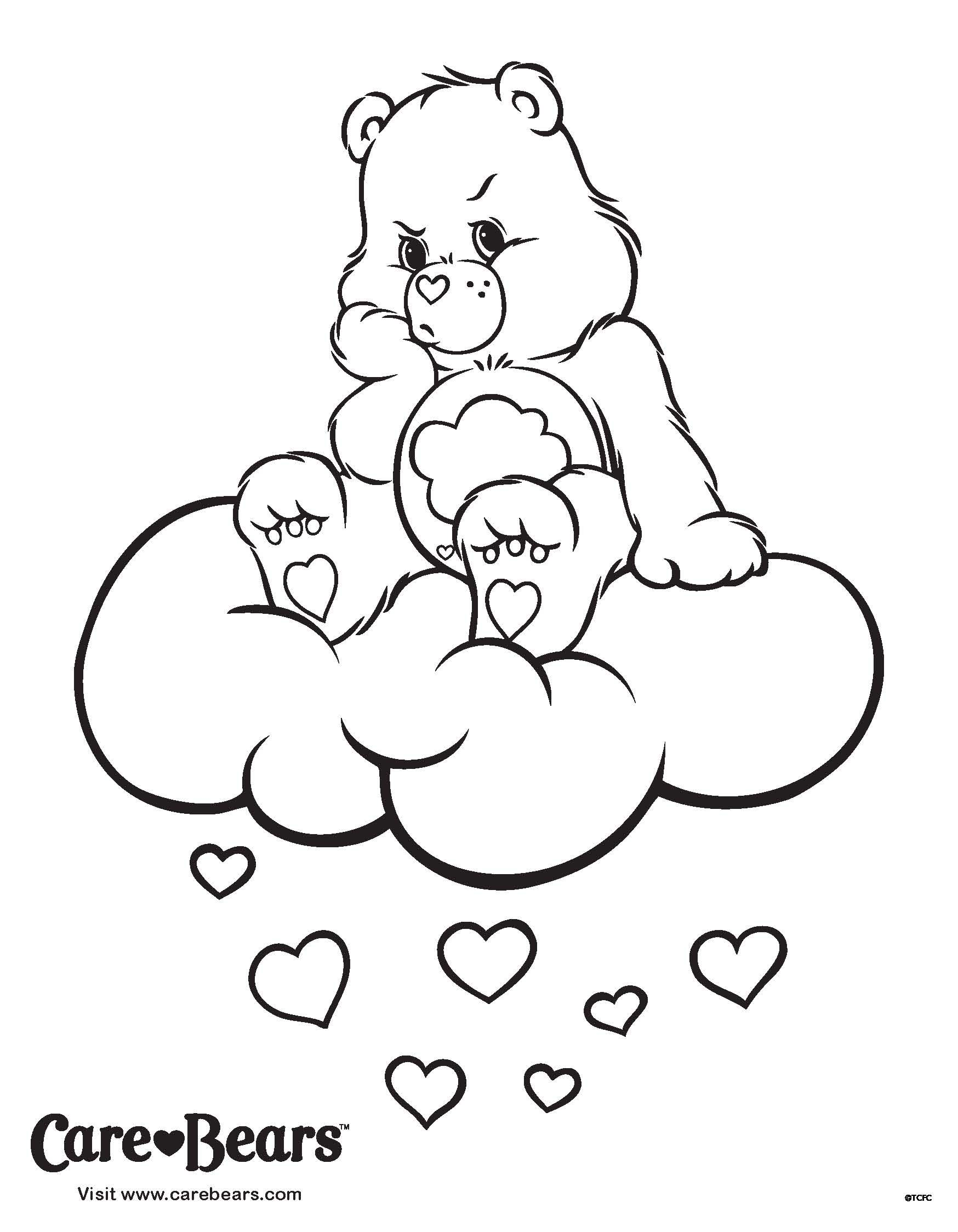 Care Bears Coloring Sheet Don T Let The Grumpies Get You Bear