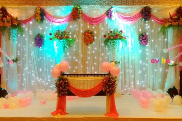 Naming ceremony decoration theme birthday decorations in for Baby namkaran decoration