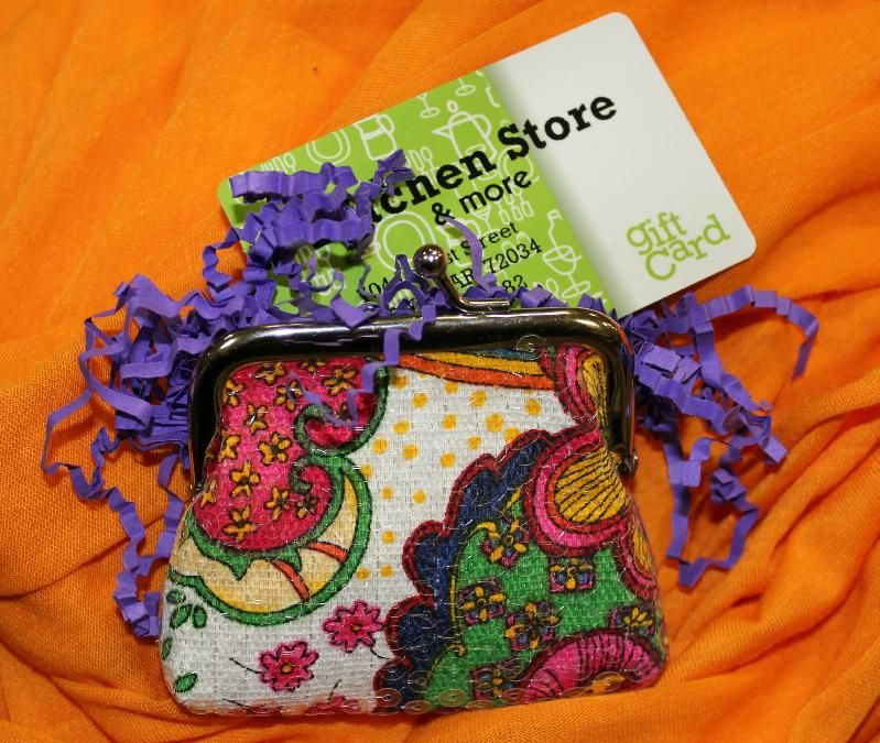 Cute Way To Wrap A Gift Card From Kitchen Store In Conway