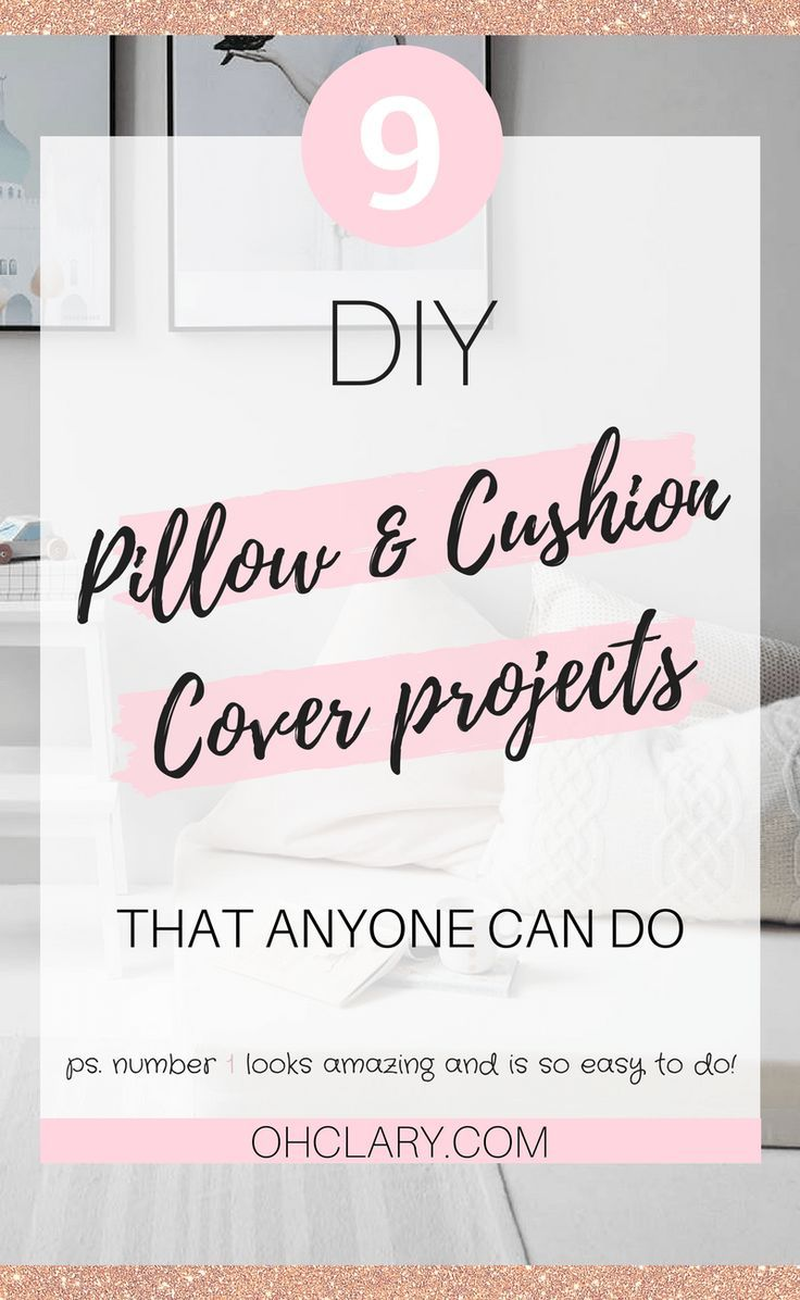 I love diy projects and i love cushions and pillows and this list