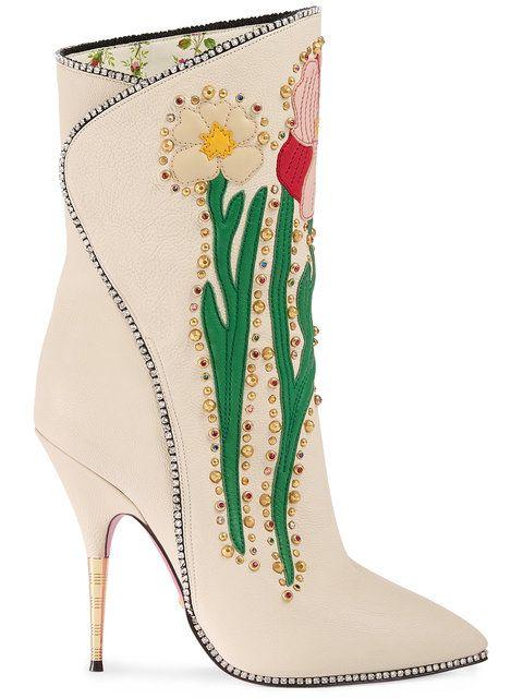 Fleurs Gucci Bottes Intarsia - Polychromes LS8KQv