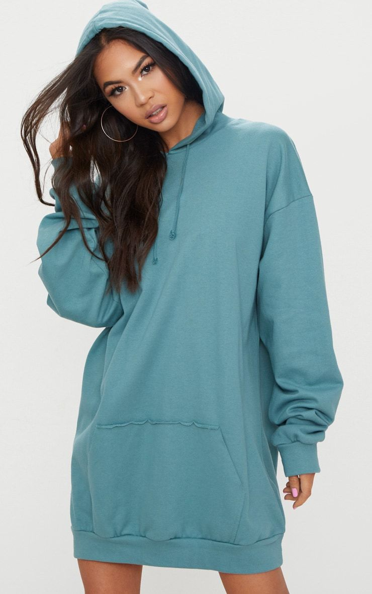 a8d95345345f Mineral Blue Oversized Hoodie Dress