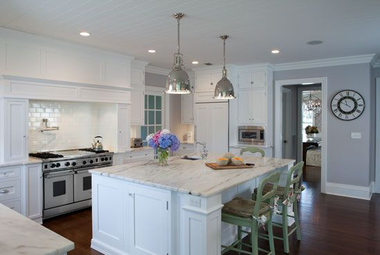 Nice Elegant And Classic Hamptons Style White Painted Kitchen By Ken Kelly | Kitchen  Designs.com