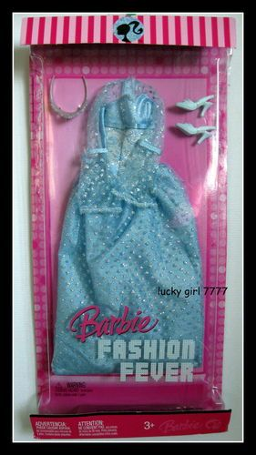 2007 Barbie Doll Outfit Clothing Fashion Fever L3373 0789 Gown Dress Shoes   eBay