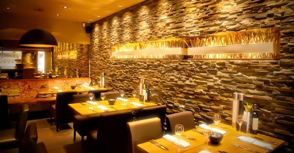 yellow quartzite split face mosaic tiles stone wall stone cladding by rock panels www - Mosaic Tile Restaurant Ideas