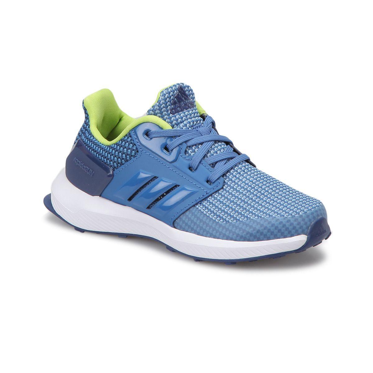 Adidas Adidas Rapidarun K Mavi Neon Yesil Erkek Cocuk Kosu Ayakkabisi Flo Ayakkabi Adidas Ayakkabilar Mavi