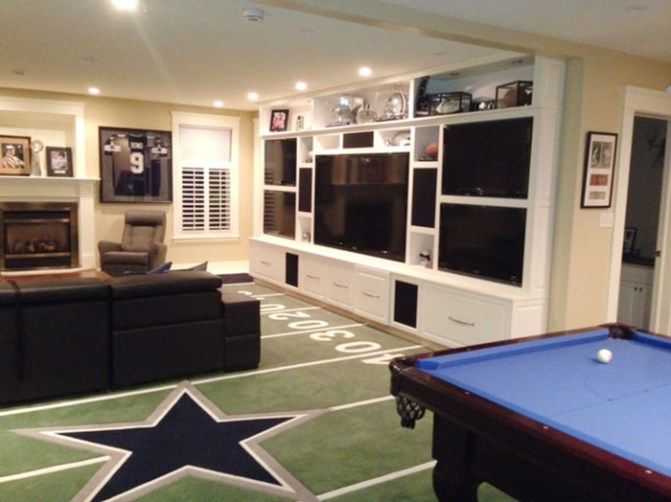 The Ultimate Game Room Dallas Cowboys Style Cowboy Room Dallas Cowboys Bedroom Dallas Cowboys Room