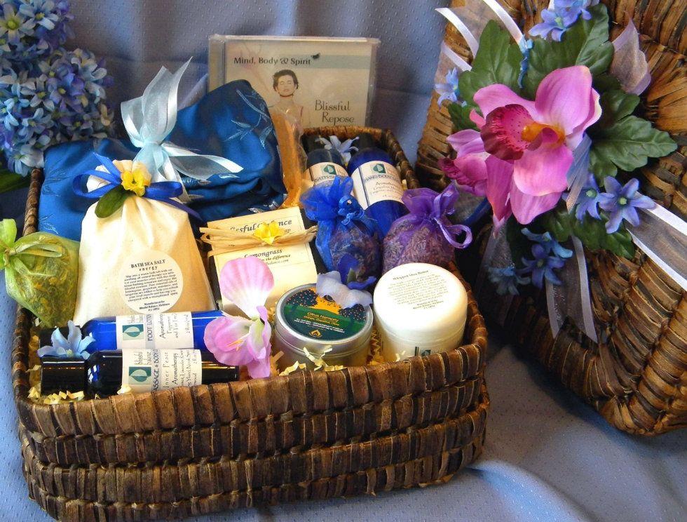 Ananda aromatherapy basket four bars of natural handmade