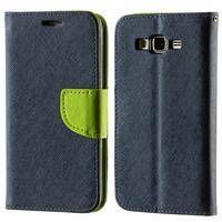 Kabura etui Fancy Series do Samsung Galaxy S6 Edge+ G928FZ granatowo-zielone