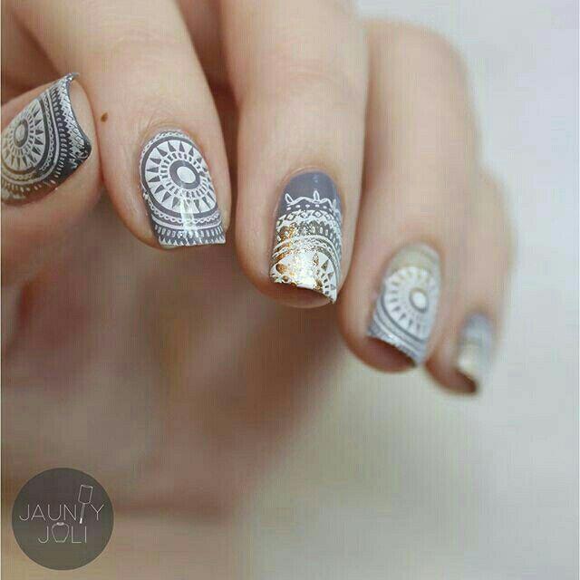 Cool colors and I\'m nail stamp crazy | Nail Krazy | Pinterest | Nail ...