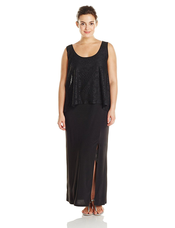 Sl sl fashion dresses - S L Fashions Women S Plus Size Crochet Pop Over Maxi Dress Can T