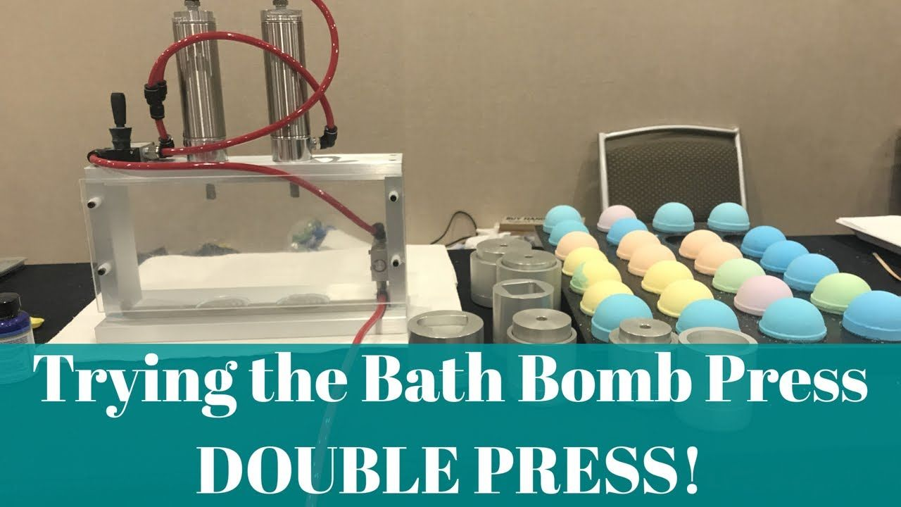 Trying The Bath Bomb Press Double Press! YouTube Bath