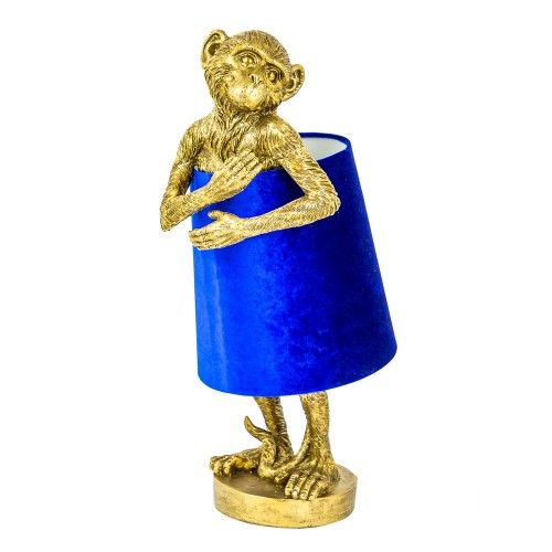 Modest Monkey Table Lamp in Antique Gold is part of Gold Home Accessories Lamps -
