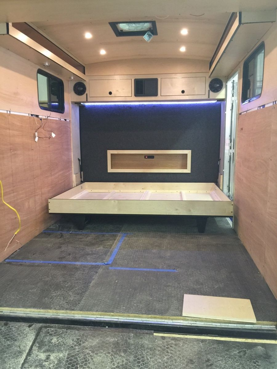Cargo trailer camper conversion cargo trailers small for Install bathroom in enclosed trailer