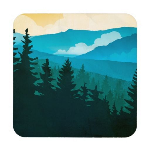 Great Smoky Mountains National Park Drink Coaster