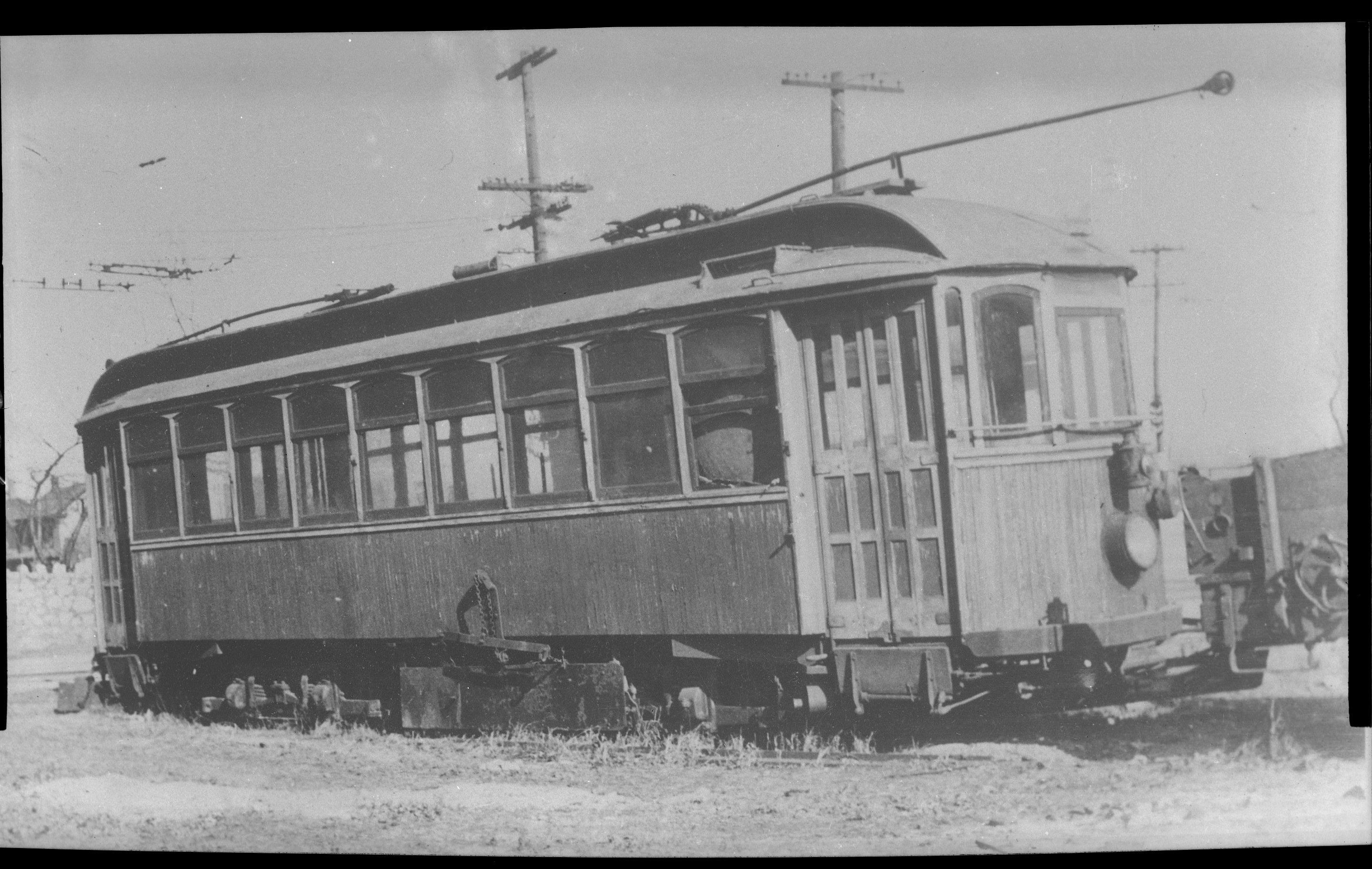 Valley Railways trolley at West End Junction (Wormleysburg PA). Image taken 1933, this was scanned from a copy negative.