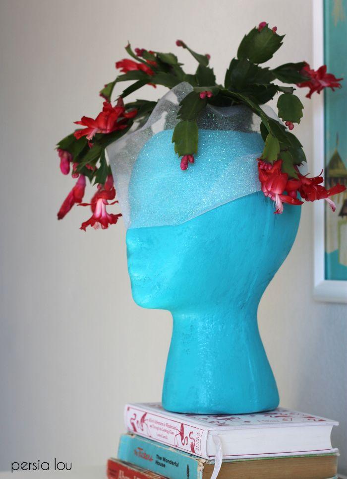 Diy Foam Head Planter Head Planters Garden Crafts Diy 400 x 300