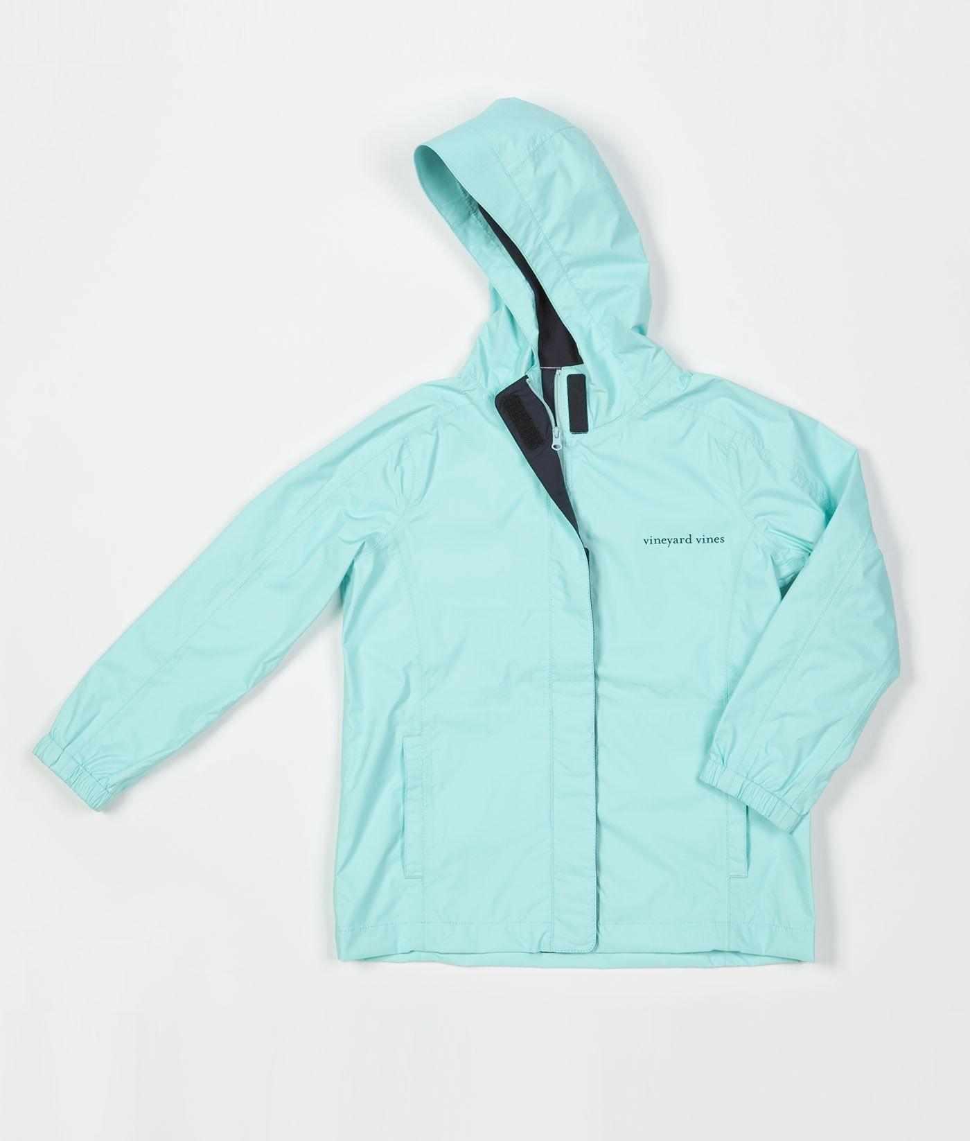 Girlsu outerwear stow u go rain jacket for girls vineyard vines