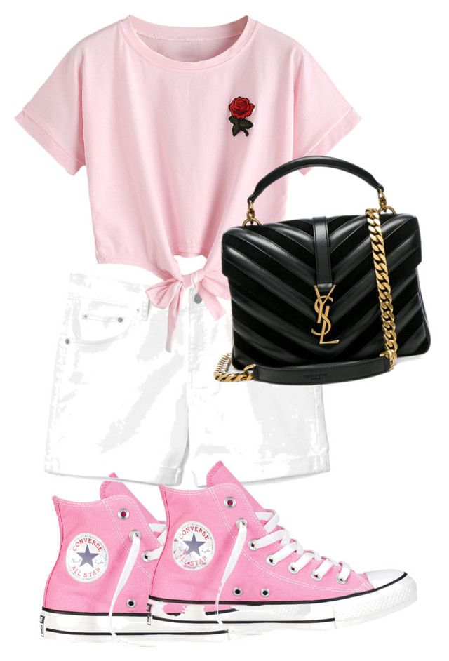 """""""Untitled #250"""" by moda-makeup on Polyvore featuring Converse, Gap, WithChic and Yves Saint Laurent"""