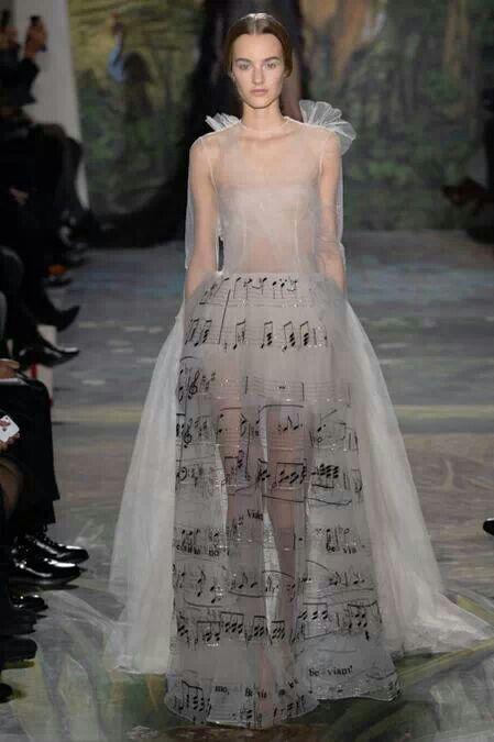 Valentino Haute Couture Spring 2014 When #fashion loves #music
